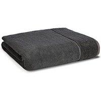 Product photograph showing Panda London Panda Bamboo Bath Towel - Urban Grey