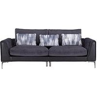 Product photograph showing Alder Fabric Leather 4 Seater Sofa