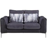 Product photograph showing Alder Fabric Leather 2 Seater Sofa
