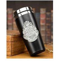 Product photograph showing Harry Potter Hogwarts Travel Mug With Metal Badge