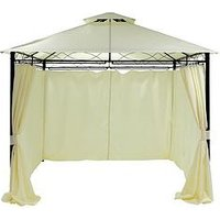 Product photograph showing 3 X 3m Metal Gazebo With 4 Side Panels