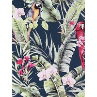 Product photograph showing Arthouse Pretty Polly Navy Wallpaper