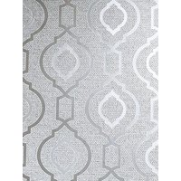 Product photograph showing Arthouse Calico Trellis Grey Wallpaper