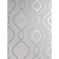 Product photograph showing Arthouse Calico Trellis Neutral Wallpaper