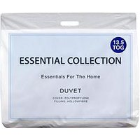 Product photograph showing Essentials Collection Essentials 13 5 Tog Double Duvet