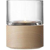 Product photograph showing Lsa International Lotta 13 Cm Lantern With Ash Base