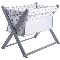 Product photograph showing Clair De Lune Rachel Riley Bunny Folding Breathable Crib