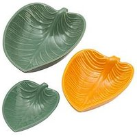 Product photograph showing Mason Cash In The Forest Set Of 3 Leaf Dishes