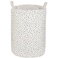 Product photograph showing Dotty Print Storage Basket With Drawstring