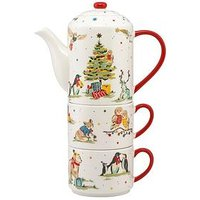 Product photograph showing Cath Kidston Tea-for-two Teapot And Cup Set