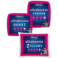 Product photograph showing Silentnight Ultrabounce Bedding Bundle