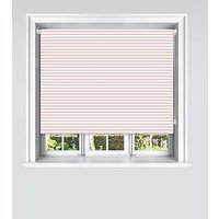 Product photograph showing Pink Stripe Blackout Roller Blind