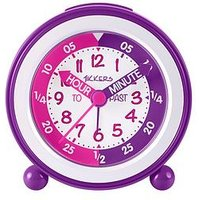 Product photograph showing Tikkers Time Teacher Alarm Clock Ndash Pink And Purple