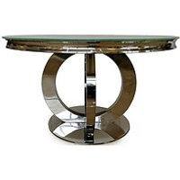 Product photograph showing Vida Living Horizon Round 130cms Dining Table