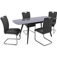 Product photograph showing Vida Living Amara Extending Dining Table 120 - 180cms
