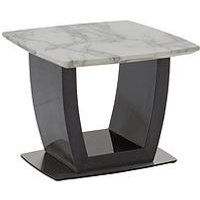 Product photograph showing Vida Living Luana Marble Top Lamp Table