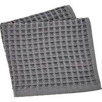 Product photograph showing Perri Home Waffle Bath Towel Charcoal