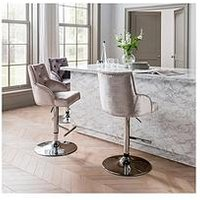 Product photograph showing Vida Living Carly Gas Lift Bar Stool