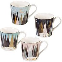 Product photograph showing Sara Miller Frosted Pines Mugs