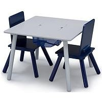 Product photograph showing Storage Table And Chair Set- Grey Blue