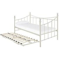 Product photograph showing Ruby Day Bed With Trundle 2 Microquilt Mattresses - Bed Frame With 2 Mattresses