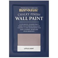 Product photograph showing Rust-oleum Chalky Wall Paint Tester Sachet Little Light 10ml