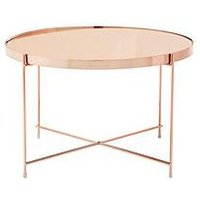 Product photograph showing Premier Housewares Allure Large Side Table- Rose Gold