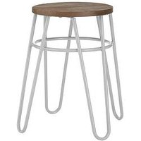 Product photograph showing Premier Housewares District Hairpin Stool- Grey Elm