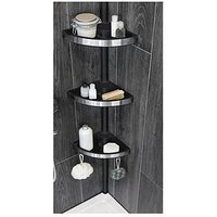 Product photograph showing Lloyd Pascal Floor To Ceiling Corner Unit - Black