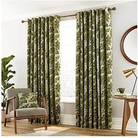 Product photograph showing Paloma Lined Eyelet Curtains 90x72