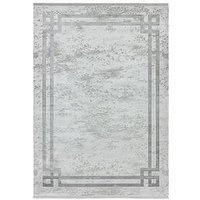 Product photograph showing Asiatic Olympia Border Rug - Grey Silver