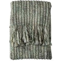 Product photograph showing Gallery Noella Space Dyed Throw - Sage