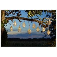 Product photograph showing Smart Solar 10 Pack Grey Spiralight Solar String Lights