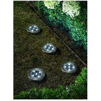 Product photograph showing Smart Solar 4 Pack Solar Up Lights