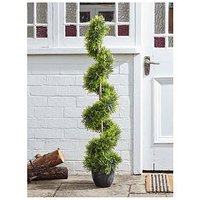 Product photograph showing Smart Solar Cyprus Artificial Potted Outdoor Tree