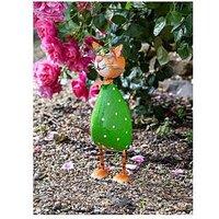 Product photograph showing Smart Solar Spangle Cat Garden Ornament