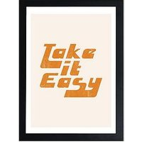 Product photograph showing East End Prints Take It Easy By Sundry Society A3 Framed Print