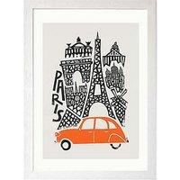 Product photograph showing East End Prints Paris Cityscape By Fox Amp Velvet A3 Framed Print