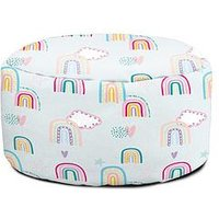 Product photograph showing Rucomfy Rainbow Sky Children S Footstool