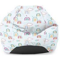Product photograph showing Rucomfy Rainbow Sky Classic Bean Bag