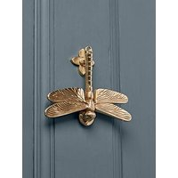 Product photograph showing Cox Cox Dragonfly Door Knocker - Solid Brass