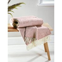 Product photograph showing Cox Cox Soft Wool Throw - Blush