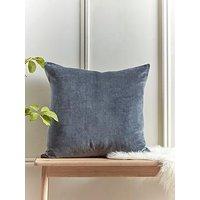 Product photograph showing Cox Cox Herringbone Cotton Cushion