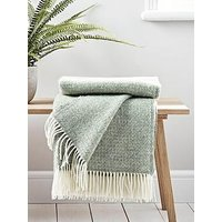 Product photograph showing Cox Cox Soft Wool Throw - Sage