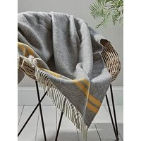 Product photograph showing Cox Cox Soft Wool Throw - Mustard