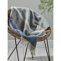 Product photograph showing Cox Cox Soft Wool Throw - Blue