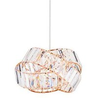 Product photograph showing Chandler Rings Easy Fit Light Pendant - Rose Gold