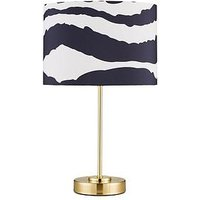 Product photograph showing Zebra Stick Table Lamp