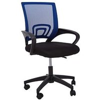 Product photograph showing Premier Housewares Maurice Office Chair- Blue