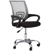 Product photograph showing Premier Housewares Maurice Office Chair- Grey